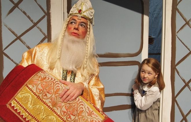 "Tim Newell and Faith Walh star in the delightful Theatre of Youth production of ""Madeline's Christmas,"" on stage through Sunday."
