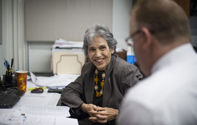Peg Michelman, 81, a financial planner who works at least two days a week from her home, does a consultation for Circle Advisers in suburban New York.