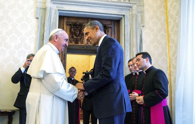Pope Francis and President Obama met for the first time on Thursday at the Vatican. The leaders explored their philosophical common ground as well as their differences.