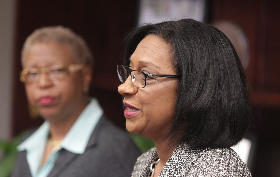 Superintendent Pamela C. Brown, right, has not followed through on her pledge of transparency, including her surprise hiring of Mary E. Guinn, left, as interim deputy superintendent.