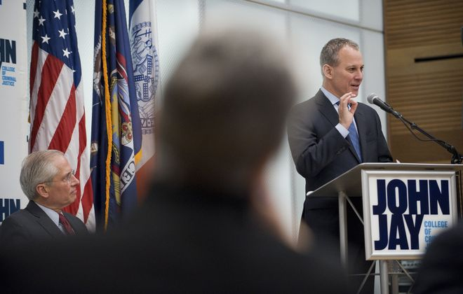 Attorney General Eric Schneiderman proposes his legislation that would allow people who have confessed or pleaded guilty to a crime they did not commit to sue the state for damages. (New York Times photo)