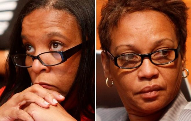 Yamilette Williams, left, and Faith Morrison Alexander   were hired despite lacking the necessary state certifications.
