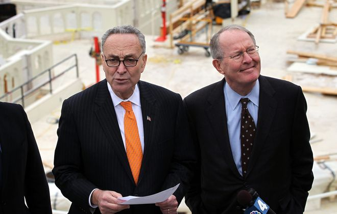 The Senate functioned as it's supposed to last week after Sens. Charles Schumer, left, and Lamar Alexander managed to break the partisan walls. (Getty Images file photo)