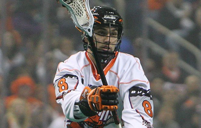 Transition player Kevin Brownell plays with several fellow Robert Morris graduates on the Bandits.