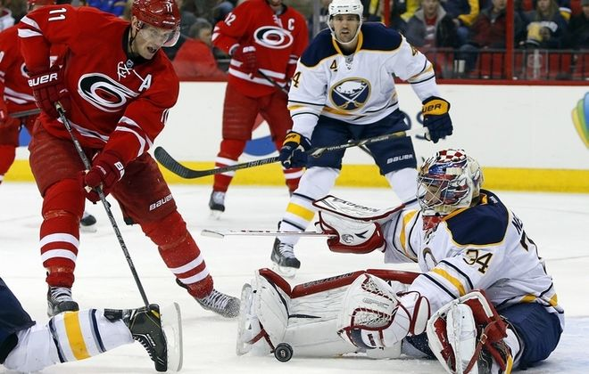Michal Neuvirth will make his season debut for the Sabres this afternoon. (Associated Press)