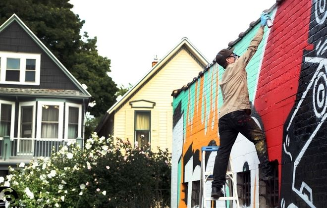 """Nate Peracciny's """"Streets of Art,"""" about the Allen Street Street Art Collective, premieres Friday in the Allendale Theatre."""