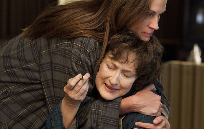 "Julia Roberts and Meryl Streep in a scene from ""August: Osage County."""