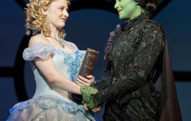 "Hayley Podschun and Jennifer DiNola star in ""Wicked,"" which returns to Shea's Performing Arts Center for its third local appearance on Wednesday."