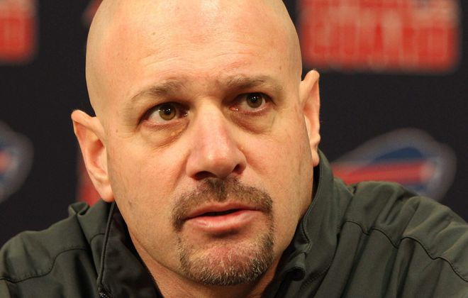 Mike Pettine was Bills defensive coordinator in 2013. (Mark Mulville/Buffalo News)