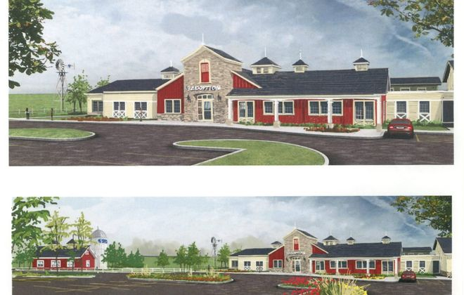 This is a drawing of the new shelter that the SPCA Serving Erie County hopes to build on Harlem Road in West Seneca. It seeks the public's help to reach its goal of $8 million.