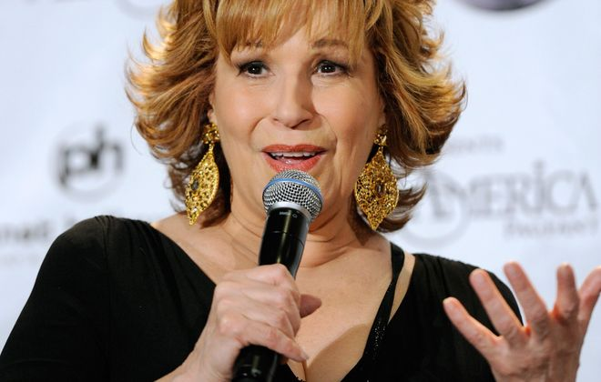 LAS VEGAS, NV - JANUARY 15:  Talk show host and comedian Joy Behar speaks during a news conference for newly-crowned Miss America Teresa Scanlan at the 2011 Miss America Pageant at the Planet Hollywood Resort & Casino January 15, 2011 in Las Vegas, Nevada. Behar served as a pageant judge.  (Photo by Ethan Miller/Getty Images) *** Local Caption *** Joy Behar *** Local Caption *** Joy Behar