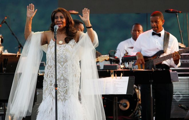 The Queen of Soul, Aretha Franklin, performs Tuesday evening at Artpark to a large and enthusiastic crowd. See a photo gallery at BuffaloNews.com. (Sharon Cantillon/Buffalo News)