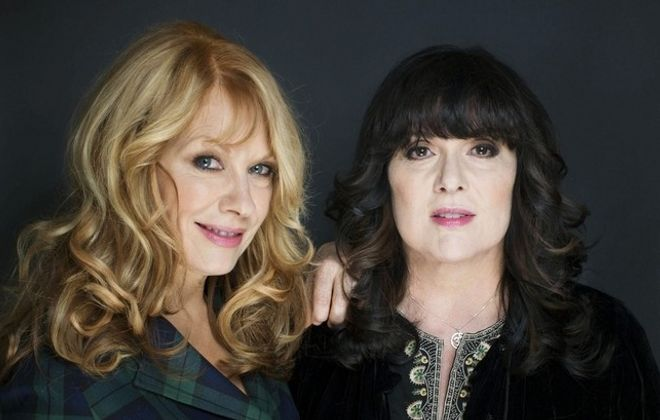 Ann, left, and Nancy Wilson of Heart perform at Artpark Tuesday. (Associated Press file photo)