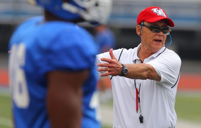 Lou Tepper, UB defensive coordinator and linebackers coach, is high on his linebackers because they want to be good and work at it.