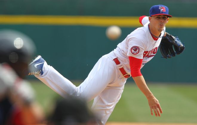 Mickey Storey allowed a run in two innings of work in his first appearance of the year for Buffalo.