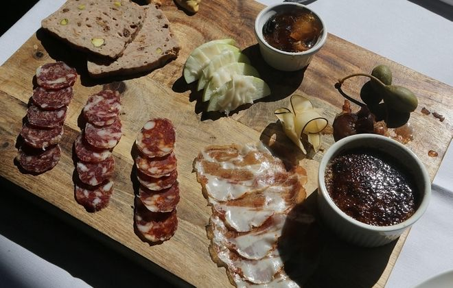 The popular charcuterie platter at Tabree restaurant in Snyder features a sampling of cured meats. (Charles Lewis/Buffalo News)