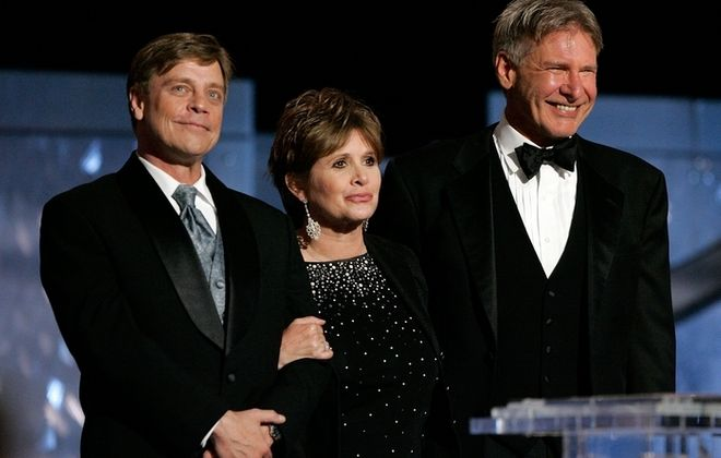 """Actors Harrison Ford, Carrie Fisher and Mark Hamill have been included in the cast for """"Star Wars: Episode VII."""" (Getty Images)"""