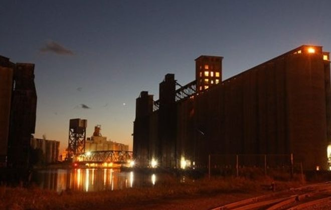 Grain elevators along the Buffalo River will be one of Explore Buffalo's stops on the tour of Buffalo's waterfront. (John Hickey/Buffalo News file photo)