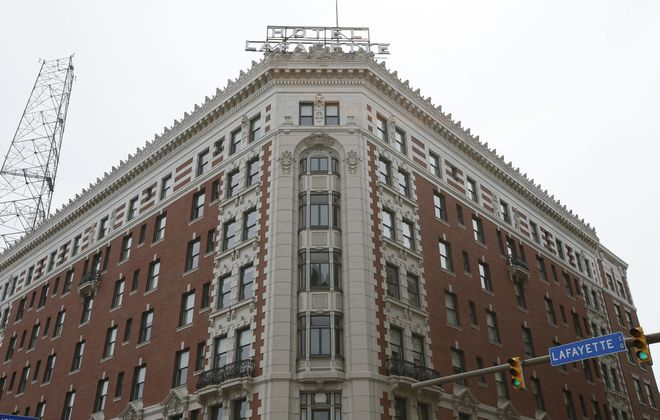 Explore Buffalo's walking tour visits architectural landmarks like the Hotel Lafayette.  (Derek Gee/Buffalo News file photo)