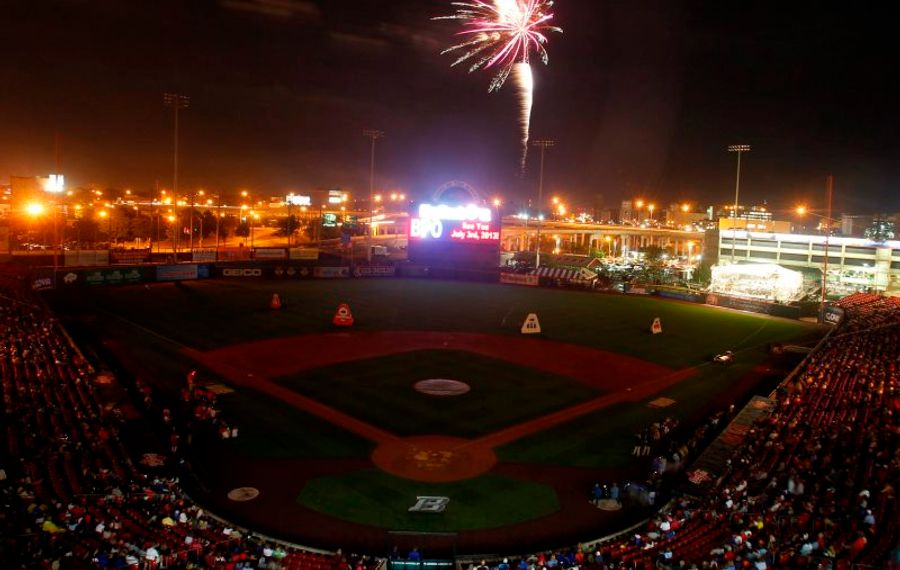 The fireworks at Sahlen Field with the Buffalo Philharmonic Orchestra playing are among the area's most popular. (John Hickey/News file photo).