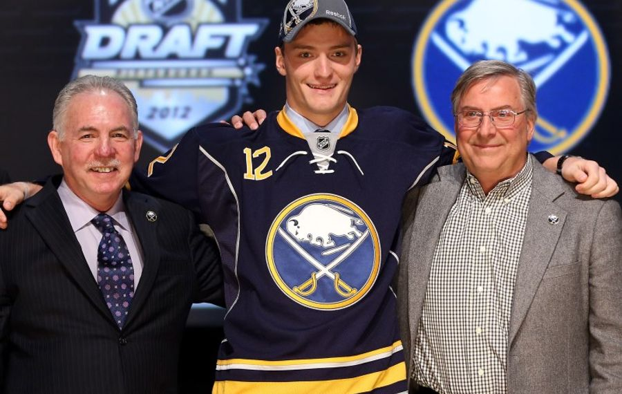 Mikhail Grigorenko was selected 12th overall by the Sabres in 2012. (Getty Images)