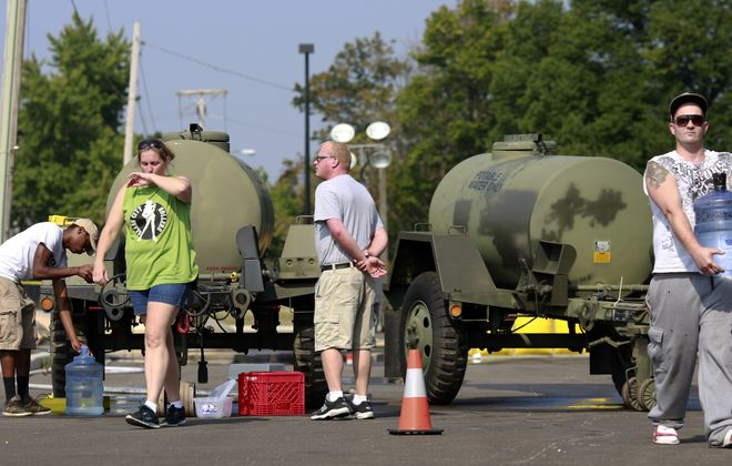 A week ago, the Ohio Air National Guard was hauling in tanks of clean water for Toledo residents. While the city's tap water is now safe to drink, the toxic algae bloom could reappear this summer.