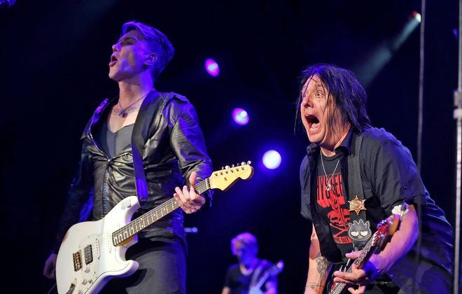 John Rzeznik, left, and Robby Takac had no shortage of rock 'n' roll energy. (Harry Scull Jr. / Buffalo News)
