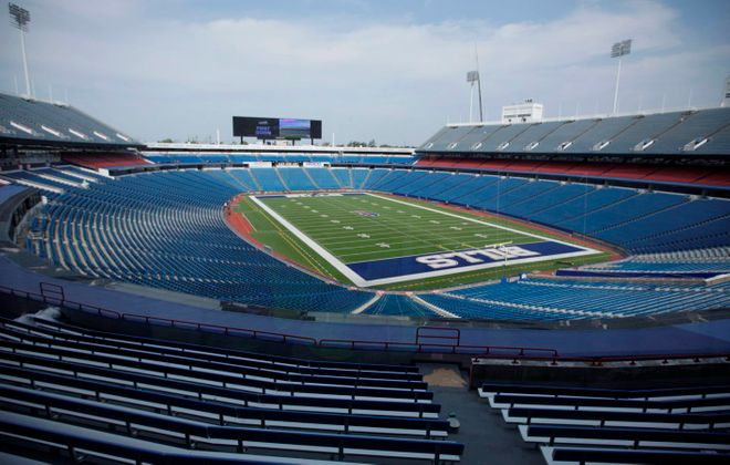 The Bills' stadium turf is going up for auction. (Derek Gee/News file photo)