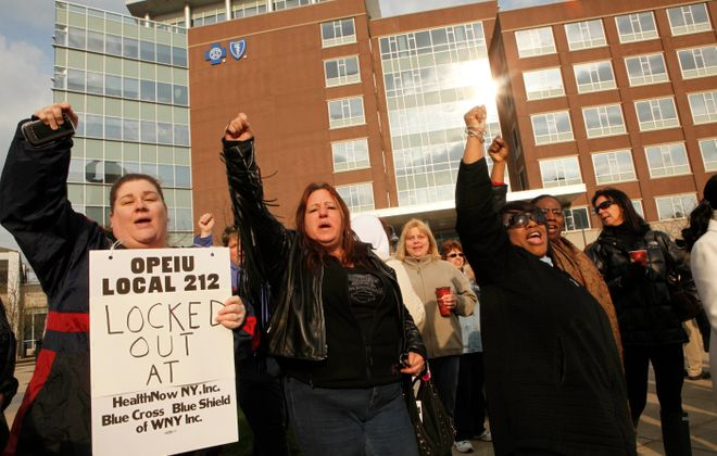 Health insurer locks out workers, new home sales steady, and CTG earnings rise...
