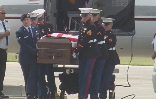 Videos: Fallen Marine killed in Afghanistan arrives home