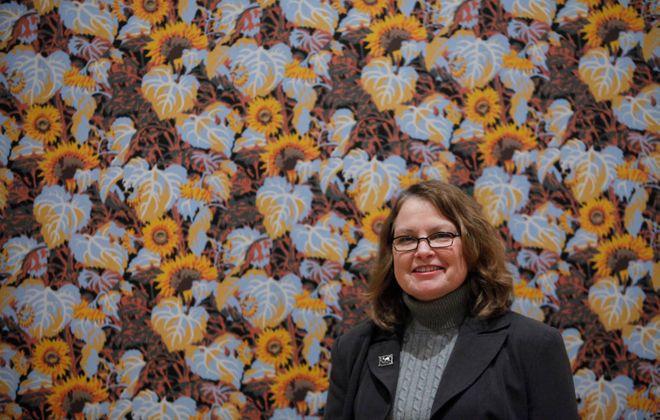 'Sunflower' installed for retrospective