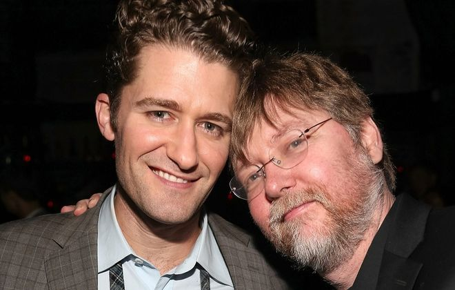 Matthew Morrison, left, is pictured with musician Brad Ellis. (Getty Images)