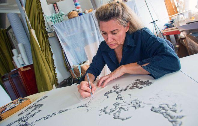 Artist Fotini Galanes. (Michael P. Majewski)