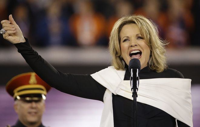 Renee Fleming performs as part of the Buffalo Philharmonic Orchestra gala on Saturday. (Associated Press)