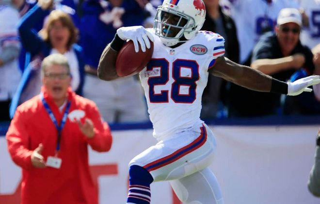 C.J. Spiller's 102-yard kickoff return was one of many big plays for the Bills. (Buffalo News)