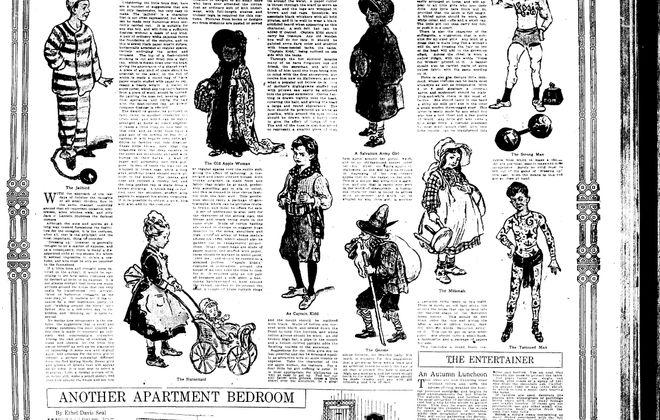 Oct. 30, 1914: Halloween costumes from 1914 clearly show their age