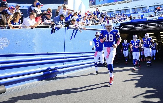 Bills quarterback Kyle Orton is not interested in talking about himself, but a former coach says he is one of the hardest working players he has ever coached, some who is committed to excellence and who will raise the level of play of those around him. (Harry Scull Jr./Buffalo News)