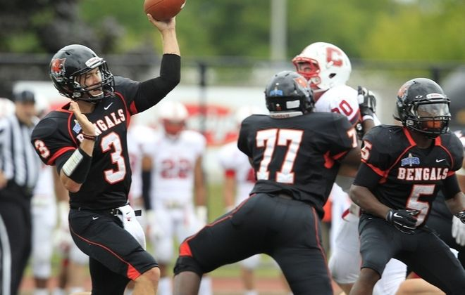 Buff State quarterback Kyle Hoppy is an Orchard Park product. (Harry Scull Jr./Buffalo News)