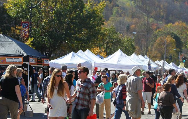 Scenic Ellicottville will host its annual Fall Festival this weekend. (Mark Mulville / Buffalo News file photo)