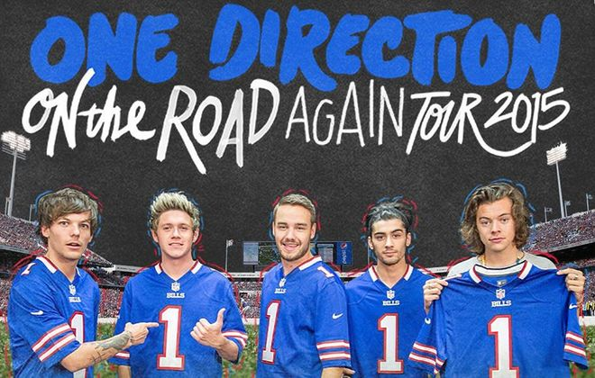 Who got the most worked up on Twitter about One Direction coming to Buffalo?