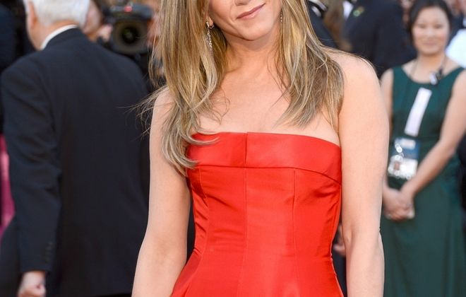 """Jennifer Aniston, shown in 2013, stars in the new movie, """"Cake,"""" which was well-received at the Toronto International Film Festival. (Getty Images)"""
