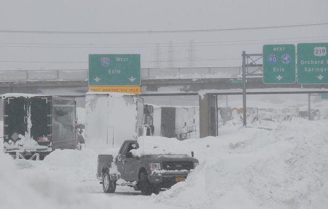 Gov. Andrew M. Cuomo came into town Wednesday to survey the hardest hit area of the Thruway between Walden Avenue in Cheektowaga and Ridge Road in West Seneca.