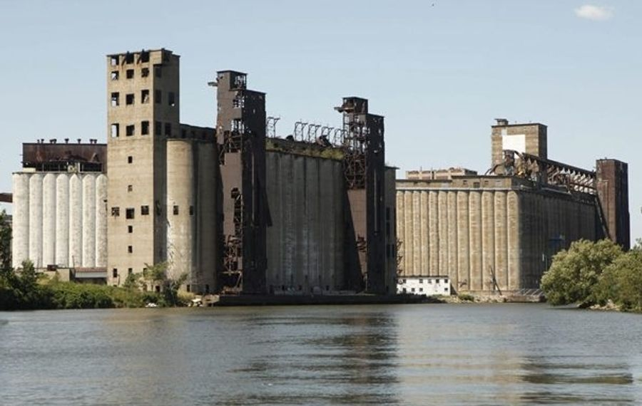 Explore Buffalo leads you to the top of two of Buffalo's numerous grain elevators. (Derek Gee/Buffalo News file photo)