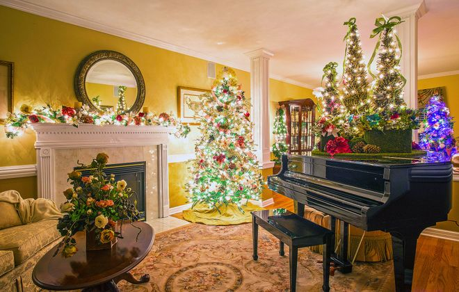 The Greiners have a total of 19 trees in their Orchard Park home. (Michael P. Majewski)