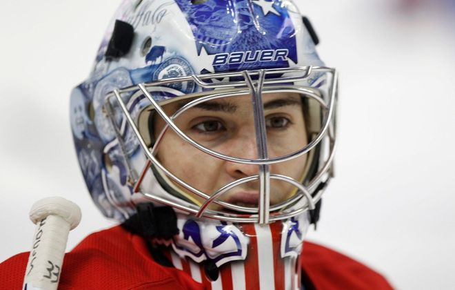 Former Amerks goalie and Williamsville native David Leggio. (Harry Scull Jr./News file photo)