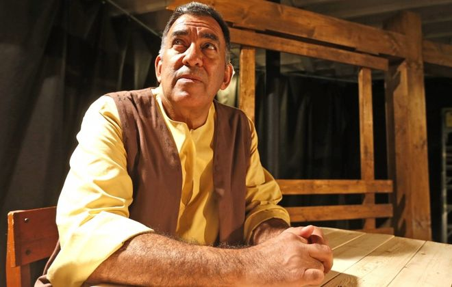 """Victor Morales is Giles Corey in the American Repertory Theater's production of  """"The Crucible."""" (Robert Kirkham/Buffalo News)"""