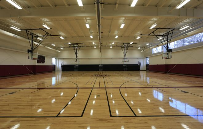 Sacred Heart's capital campaign raised $3.5 million for its new gym, where the Sharks will play 16 of their 21 scheduled games.
