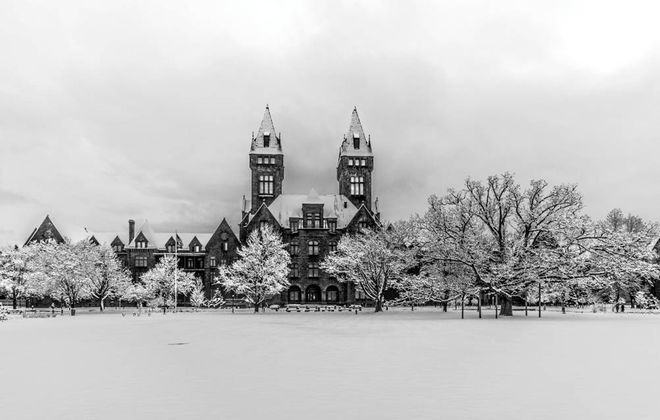 A photograph of the Richardson Olmsted Complex by John Waller.