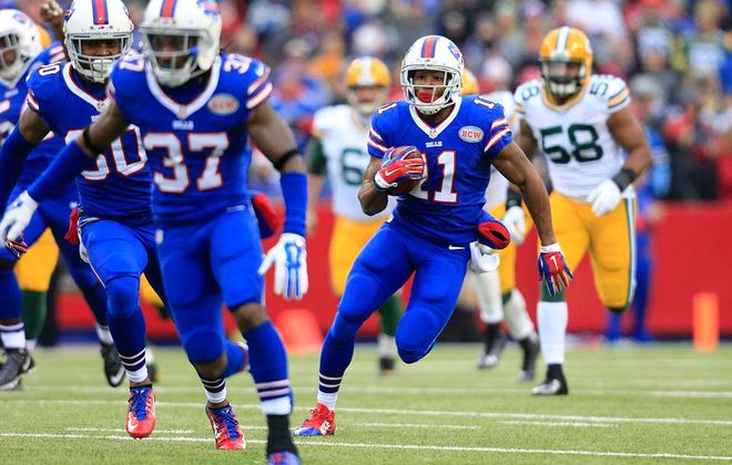 Marcus Thigpen scored the Bills' only touchdown on a 75-yard punt return in the first quarter. (Harry Scull Jr./Buffalo News)