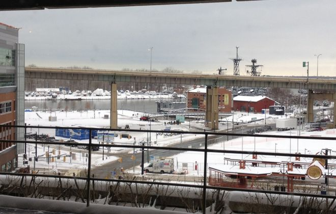 View from future Roux space, now The Buffalo News cafeteria